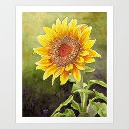 Sunflower–Watercolor Art Print