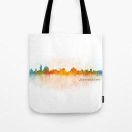 Jerusalem City Skyline Hq v3 Tote Bag