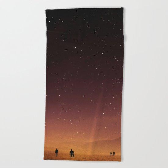 Planet Walk Beach Towel