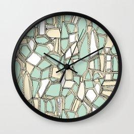 BROKEN POP mint Wall Clock