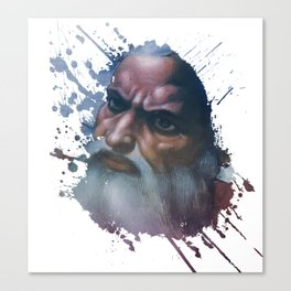 Face of God - Splash Canvas Print