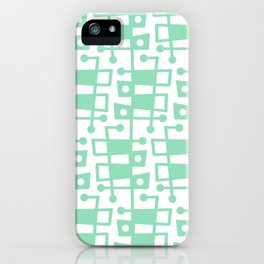 Mid Century Modern Abstract 213 Mint Green iPhone Case