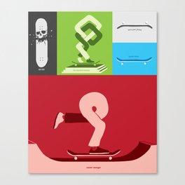Skateboarding is an idea. Canvas Print