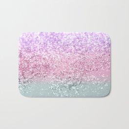 Unicorn Girls Glitter #7a #shiny #pastel #decor #art #society6 Bath Mat