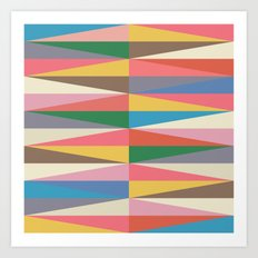 Blooming Triangles Art Print