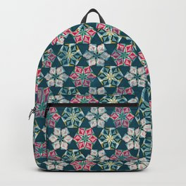 Origami Flower - teal Backpack