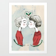 The First Kiss  Art Print