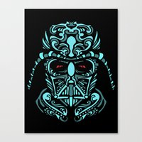 darth Canvas Prints featuring Darth James Darth by Quakerninja