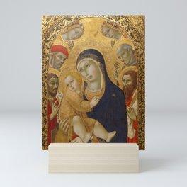 Sano di Pietro - Madonna and Child with Saints Jerome, John the Mini Art Print