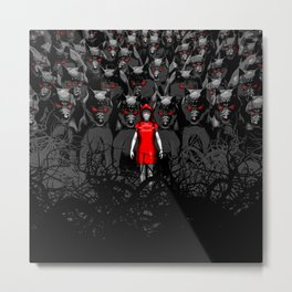 Girl N the Hood Metal Print