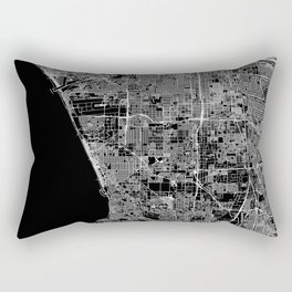 Los Angeles Black Map Rectangular Pillow