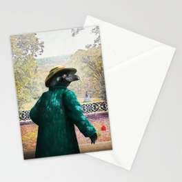 Ronaldo Raven on his way to a Romantic Rendezvous Stationery Cards