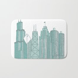 Chicago Architecture Bath Mat