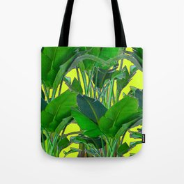 DECORATIVE TROPICAL GREEN FOLIAGE & CHARTREUSE ART Tote Bag