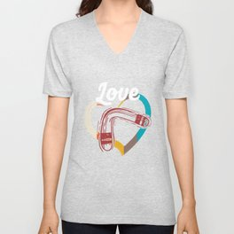 Love Boomerang Sports Athlete Competitive Sports Athletic Gifts Unisex V-Neck