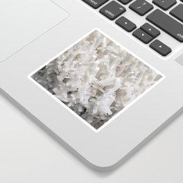 Botanical Gardens II - White Crystals #252 Sticker