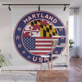 Maryland, Maryland t shirt, Maryland sticker, Maryland Poster Wall Mural