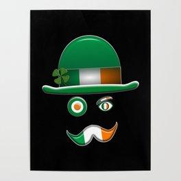 Irish Flag Face. Poster