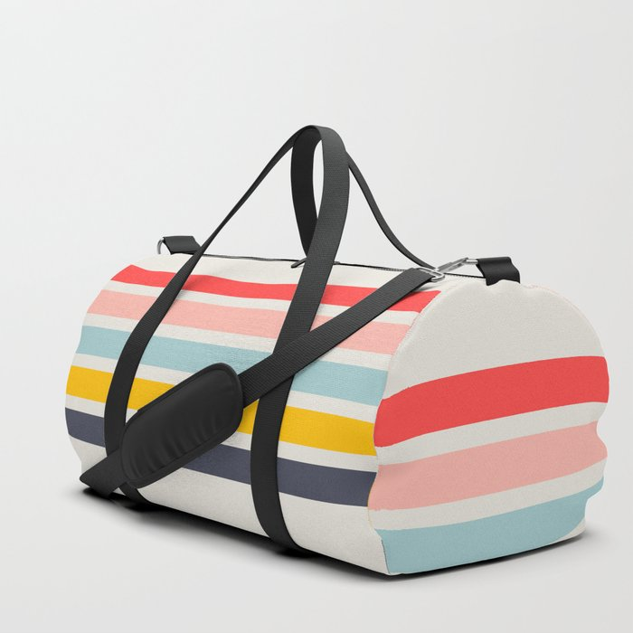 Naomori - Classic Minimal Retro Stripes Duffle Bag