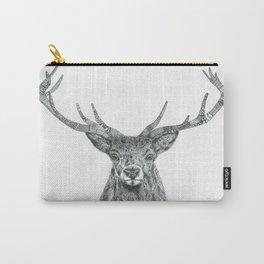 Zentangle Deer Ink Portrait Carry-All Pouch