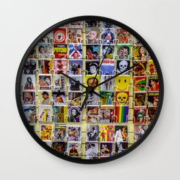 Retro postcards Wall Clock