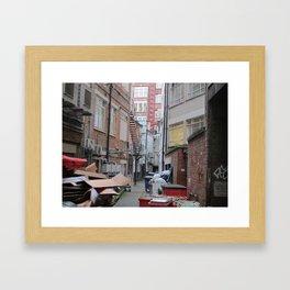 Empty Boxes Framed Art Print
