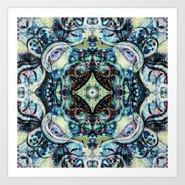 Peacock Blues Art Print