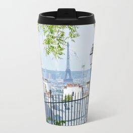 Eiffel Tower Paris View from Montmartre Travel Mug