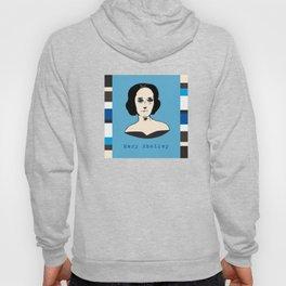 Mary Shelley, hand-drawn portrait Hoody