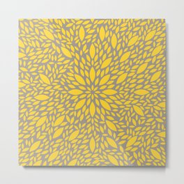 Yellow Flower explosion Metal Print