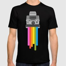 Taste the Rainbow LARGE Black Mens Fitted Tee