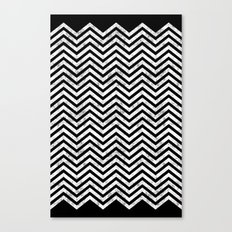 Black Lodge Zig Zag (Distressed) Canvas Print