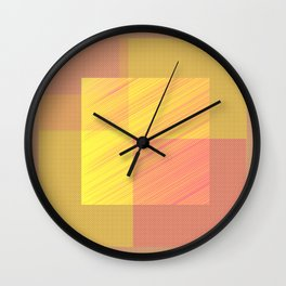 Abstract hot desert Wall Clock