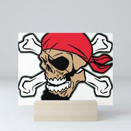 Pirate Skull Crossbones Mini Art Print
