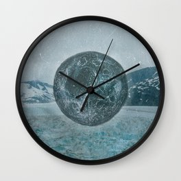 GLACIER MOON TWO Wall Clock