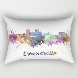 Evansville skyline in watercolor Rectangular Pillow