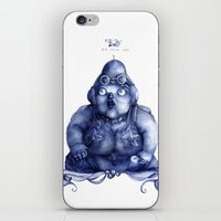 fat iPhone & iPod Skins featuring Fat Lady by Anna Cannuzz
