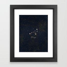 Virgo - Rose Gold Framed Art Print