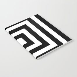 Classic Black White Squares Notebook