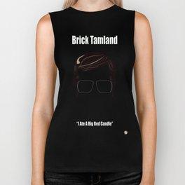 Brick Tamland: Weather Biker Tank