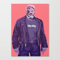 90s Canvas Prints featuring 80/90s - Hdr by Mike Wrobel