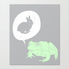 Frogs Say Canvas Print