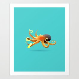 Geometric Octopus - Modern Animal Art Art Print
