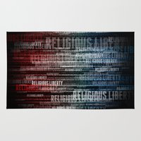 religious Area & Throw Rugs featuring Religious Liberty by politics
