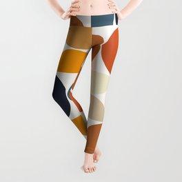 Modern Geometric Seamless Pattern Mid Century XI Leggings