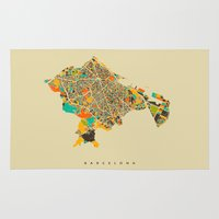 barcelona Area & Throw Rugs featuring Barcelona by Nicksman