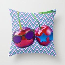 Cherry Sis Throw Pillow
