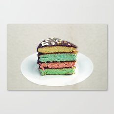 Rainbow cake Canvas Print