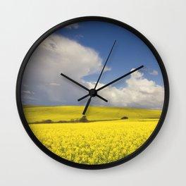Yellow Canola fields - Landscape Photography #Society6 Wall Clock