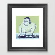 train keeper Framed Art Print